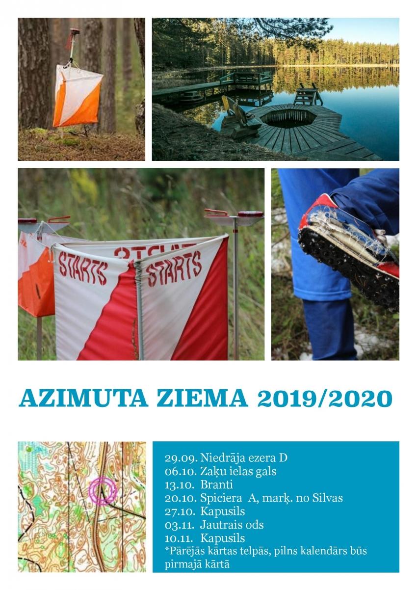 AZIMUTA ZIEMA 2019 / 2020 kalendārs