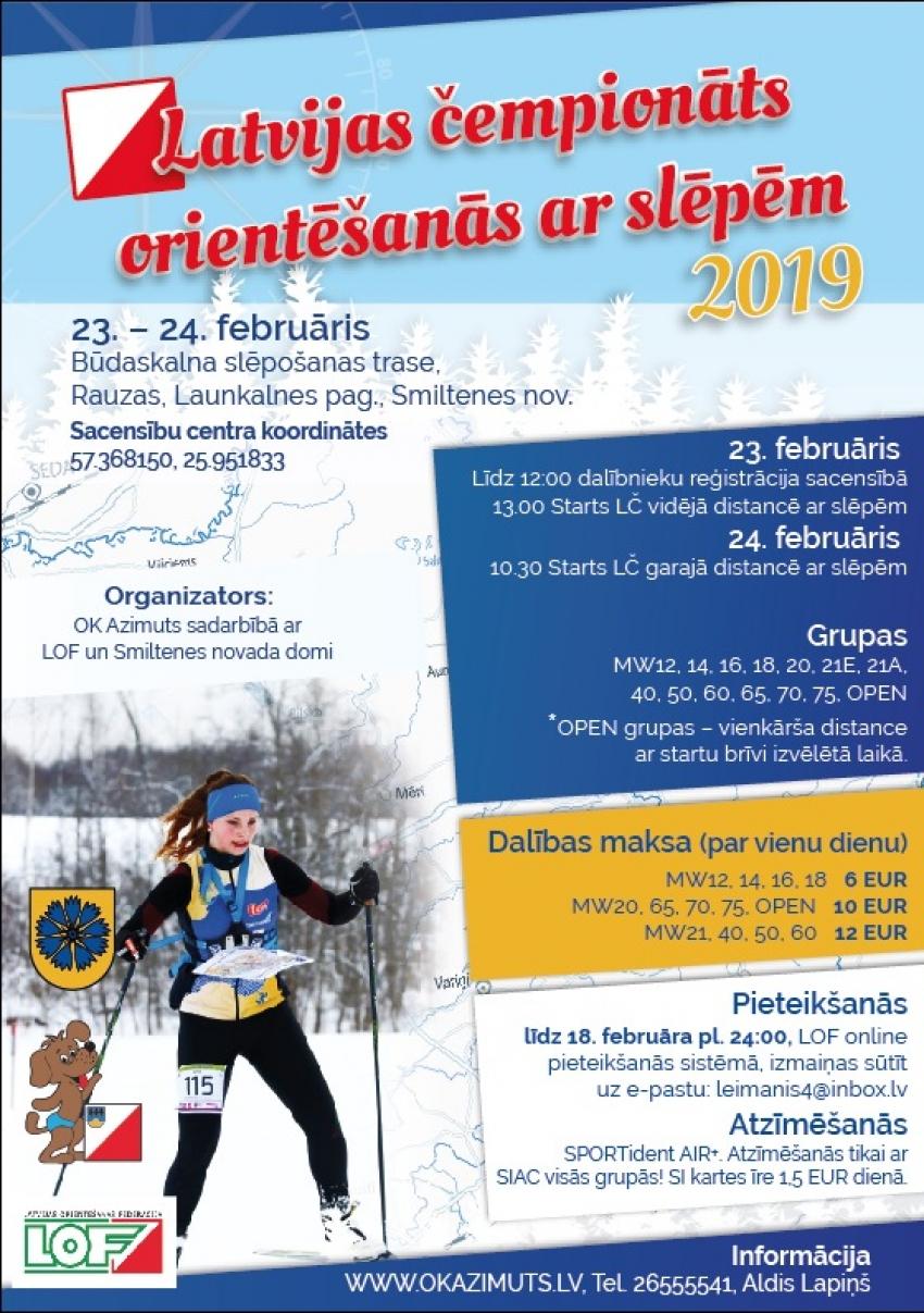 Latvijas čempionāts orientēšanās ar slēpēm-2019