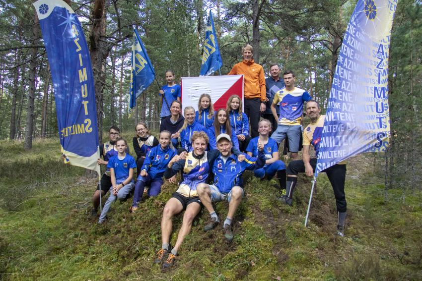 Azimuts OK-Sm BJSS orientieristu veikums Latvijas kausa sacensībās 2020.